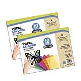 Quijote Paper World Pack 2 Blocs de Papel, Papel Celofn, 20 Hojas 24x32cm, para Manualidades, Dibujo, Diseos, etc. 5 colores