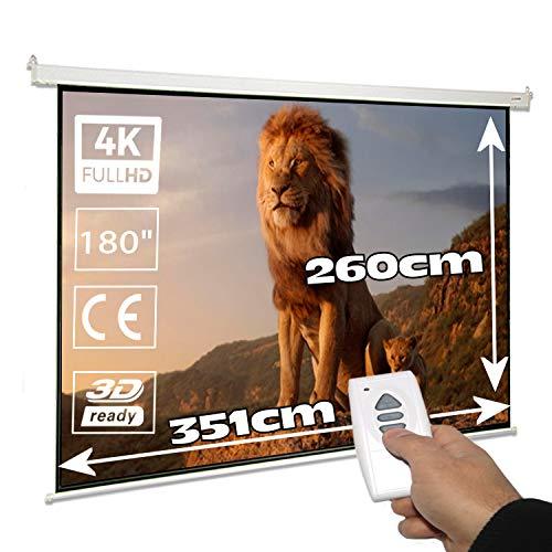 Pantalla de proyeccion electrica 180' Pulgadas, Luxscreen, área Visible...