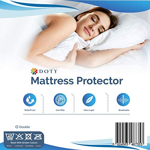 Tody Waterproof Mattress Protector Double White