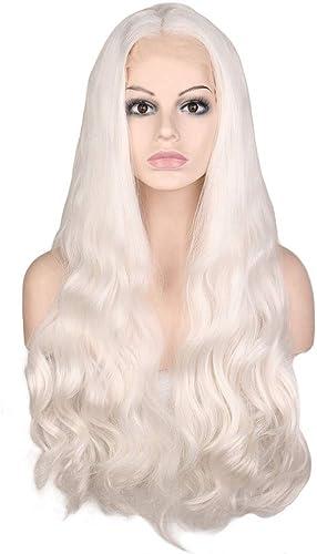 Chenyuan Femmes Perruque 28 Avant de Lacet Clair Violet Longue Perruque de Cheveux Stright Perruques avec Parcravate Centrale Cosplay Costume Perruque de fête Quotidienne pour Les Femmes avec de Vrais ch