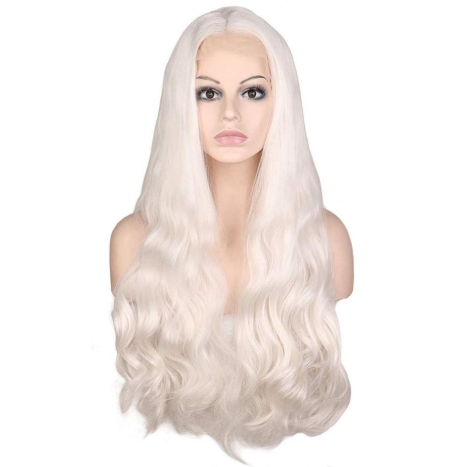 コンプリート精度汚すBOBIDYEE 28インチレースフロントウィッグライトパープルロングストレートウィッグミドルパートコスプレコスチュームデイリーパーティーウィッグウィッグリアルヘア合成ウィッグロールプレイングウィッグ (色 : Blonde, サイズ : 28
