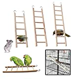 Birdcage Budgie Wooden Climbing Ladder Toys with Five/Six/Eight Rugs for Budgie Parrots Bird Canary Caged Bird Perch Climbing Toys Pets Heath Sport Supplies Pack of 3 (3 Sizes)
