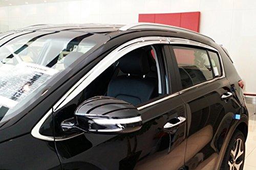 Autoclover D639 Windabweiser für Fenster, Chrom