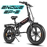 ENGWE Ebike 20 Zoll klapprad Elektrisches Fahrrad mit rücktrittbremse, 500W Electric Bike mit 48V...