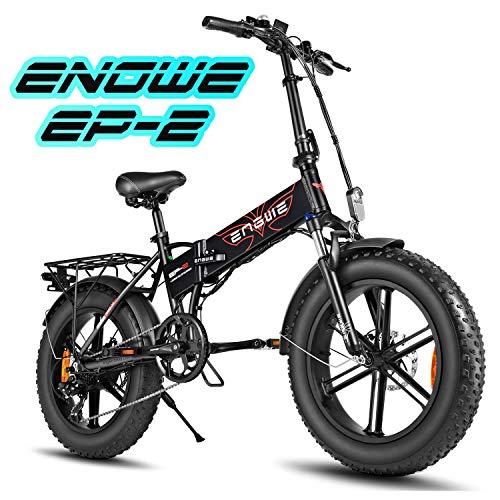 ENGWE Ebike 20 Zoll klapprad Elektrisches Fahrrad mit rücktrittbremse, 500W Electric Bike mit 48V Abnehmbarer 12.5Ah Akku, City Ebikes mit 7-Gang Gear, Commuter Bike für Herren Damen (EP-2)
