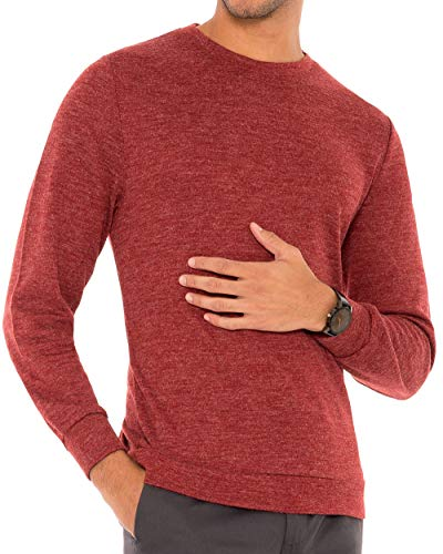 Mens Lightweight Crewneck Sweater – Dry Fit Moisture Wicking Pullover Sweaters