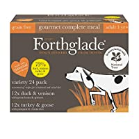 STOCK UP - Each variety pack contains 24 x 395g trays of our gourmet dog food; 12 x Turkey & Goose and 12 x Duck & Venison NATURAL INGREDIENTS - Made in Devon, we only use natural ingredients with added vitamins & minerals to make sure that your four...