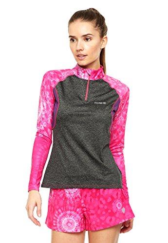 Desigual Mujer Knitted Camiseta de Manga Larga TS laper, Mujer, Knitted T-Shirt Longsleeve TS Laper, Naranja Fluor, S