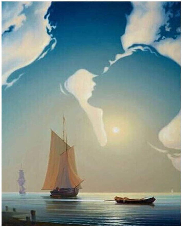 Malen Nach Zahlen Für Junior Home Decor Himmel Paar Umarmt Ozean SegelStiefel Für Erwachsene Malen Nach Zahlen Set DIY-Framed B07Q22RH63 | Fierce Kaufen
