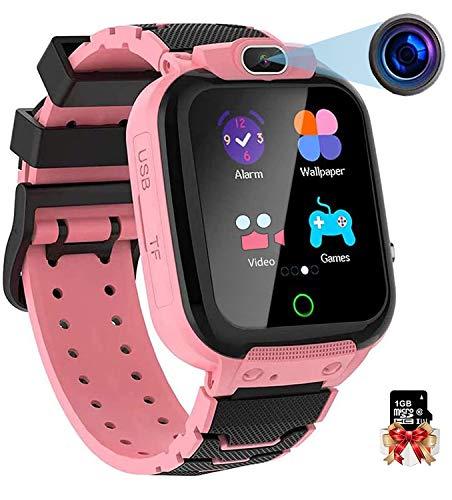 Smartwatch Kinder, Kinderuhr Video MP3 Musik 7 Spiele Uhr Kids Smart Watch, Kinder Smartwatch mit Kamera Touch LCD für 3-15 Jahre alt Jungen Mädchen Geburtstags Geschenke