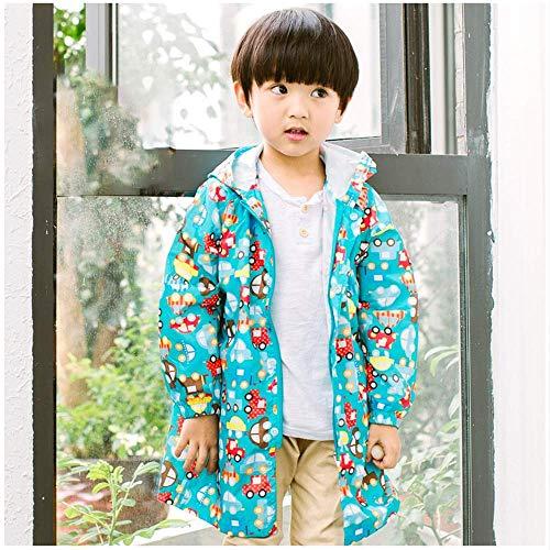 Guyuan Poncho Hibou bébé Fille imperméable garçon Fille Imprimer (Color : Blue, Size : M)