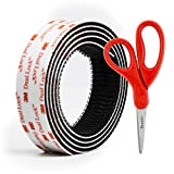 3M Dual Lock Reclosable Fastener 250 Black, 1 in x 4 Ft with Bonus Scotch 1406 Household Scissors
