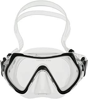 Fakeface Junior Kids Youth Diving Masks Silicone Waterproof No Leaking Anti-Fog Wide Clear Vision Swim Goggles for Girls Boys Shatterproof Swimming Glasses Safe Diving Snorkeling Mask Speedo