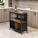 FirsTime & Co. Chandler Farmhouse Kitchen Cart, American Crafted, Brown, 31.5 x 12 x 31.5 ,