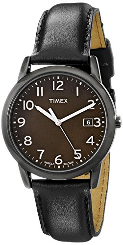 Timex Men's T2N947 South Street Black Leather Strap Watch