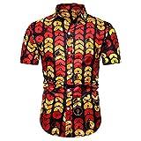 (A02,2XL)綿麻 シャツ 長袖 七分袖 ウッド調ボタン スリム 細め 細身 パナマ織りシャツ メンズ