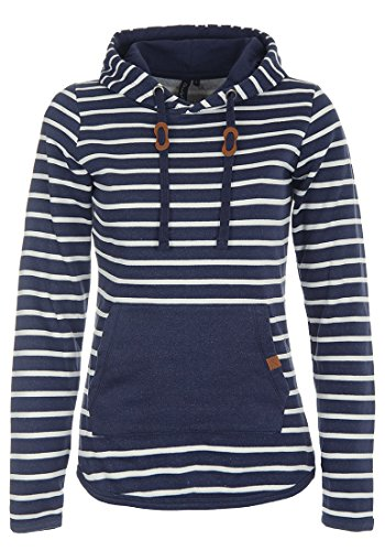 BlendShe Carina Damen Hoodie Kapuzenpullover Pullover Mit Kapuze, Größe:M, Farbe:Navy (70230)