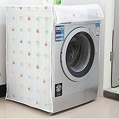 Yinew Waterproof Roller Washing Machine Top Covers Completely Automatic Drum Washer Ripple Cylinder Dust Guard Dryer Dustproof Protector,B# Bear