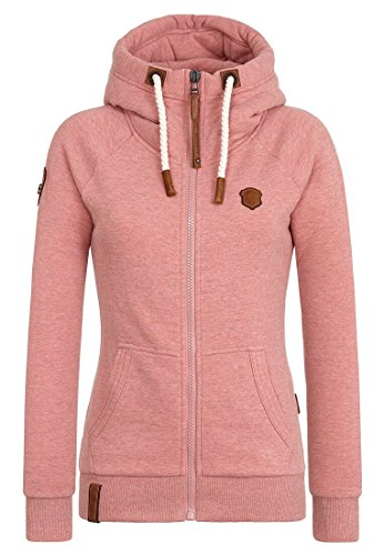Naketano Damen Sweatjacke, foggy rose melange, Small