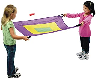 Excellerations Fun Pair-a-Chute - Set of 2 with Bean Bags, Parachutes, Sports Outdoor Play, Recess, Kids Educational Toy