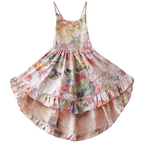 Girls Dresses Dress Straps Toddler Flower Dress 5T Summer Dresses Party Dresses for Girls Floral Dress for Girls Casual Dresses for Juniors Up Dresses for Kids Girls Dress Size 5 (A4Floral,120)
