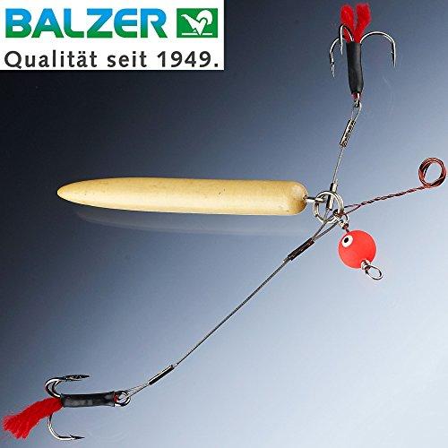 Balzer Matzes Auftriebssystem - Köderfischmontage zum Grundangeln auf Hechte, Hechtmontage, Hechtsystem, Rig zum Hechtangeln, Hakengröße/Ködergröße:Gr. 2 / L für Köder von ca. 14-20cm