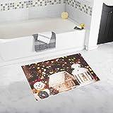 JOCHUAN Lebkuchenhaus benutzerdefinierte rutschfeste Badematte Teppich Bad Fußmatte Boden Teppich für Badezimmer 20 x 32 Zoll