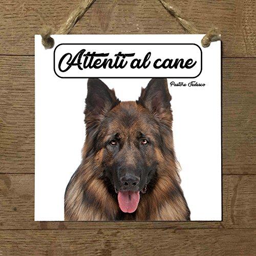 pastor Alemán Mod 4cuidado con el Perro matrícula azulejo cartel Ceramic modelo