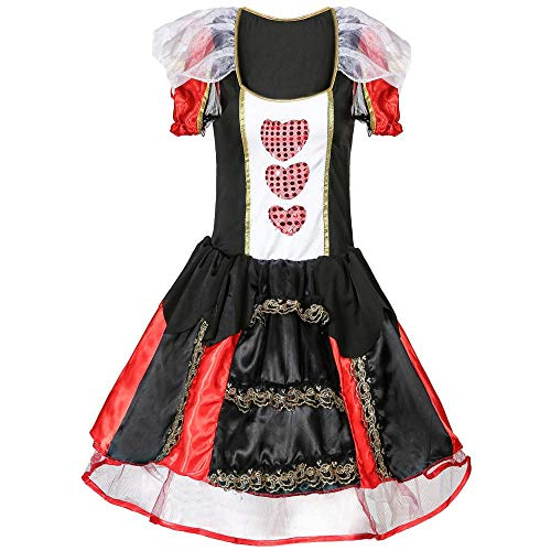 Halloween Cosplay Grandes Corazones Queen Dress Up Ball Reina Cosplay Uniformes,Gran Corazón,XL