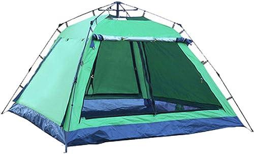 QXTT Tente De Camping Tente Imperméable Extérieure Anti-UV pour 3-4 Personnes Tente Instantanée Instantanée pour Tente De Pêche Familiale,vert