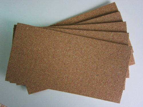 5 Stück, 10 cm x 20 cm , Hettich Korkplatten, selbstklebend, Achtung 200 Millimeter !!! x 100 Millimeter!!!, 3 mm hoch,