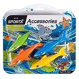 SPORTX 4 Tauchhaie Hai Tauchspielzeug Wasserspielzeug mit Gewicht Tauchen Pool Spielzeug