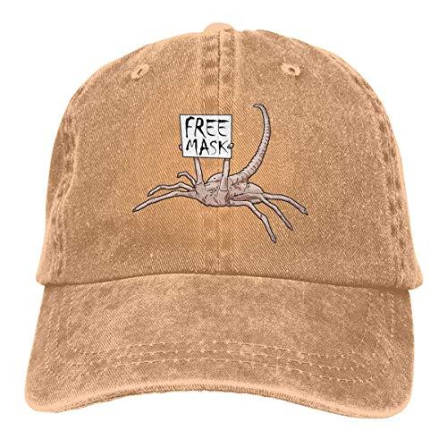 Jopath Free Mask Facehugger Verstellbare Baseballkappe Unisex Waschbare Baumwolle Trucker Hat Dad Hat Gr. Einheitsgröße, natur