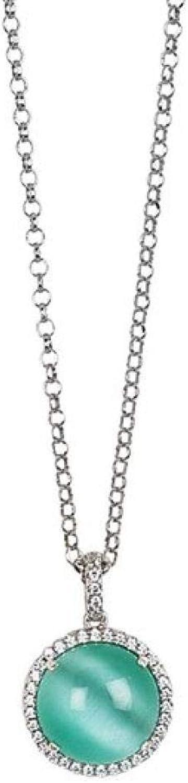 Boccadamo ,collana  per donna,in bronzo rodiato, contromaglia di zirconi e cristallo cabochon Xgr496A