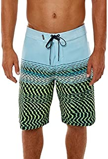 O'Neill Men's Hyperfreak Print Quick Dry Stretch Boardshort wavelength Lime 30 [並行輸入品]