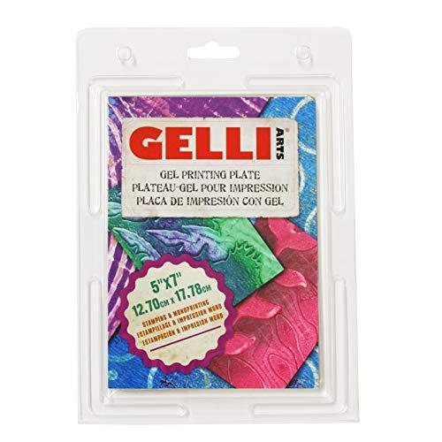 Gelli Arts GL5x7 Druck Teller 5 x 7 Zoll, Synthetic Material, druchsichtig, 12.70 cm x 17.78 cm