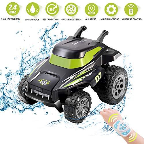 Kriogor Stunt Auto, Ferngesteuertes Auto, Wiederaufladbar RC Rennauto, High Speed Spielzeugauto, Radio Ferngesteuerter Buggy Auto