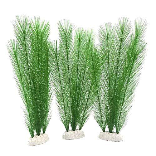 Bopfimer Décoration d'aquarium - Plantes vertes artificielles en soie - En plastique - Non toxique et sans danger pour tous les poissons et les animaux domestiques.