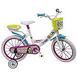 Soy Luna Vélo 16 Pouces Blanc | Licence Officielle Disney Channel | Vélo Fille 16' avec roulettes/Stabilisateurs Amovibles | Enfant de 5 Ans, 6 Ans ou 7 Ans | Fabriqué en Italie