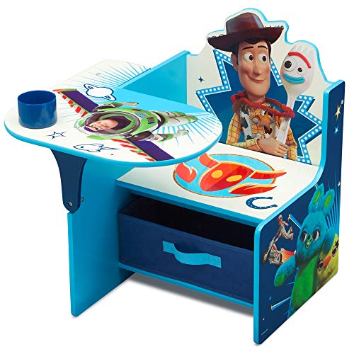 Delta Children Chair Desk with Storage Bin - Ideal for Arts & Crafts, Snack Time, Homeschooling, Homework & More, Disney/Pixar Toy Story 4
