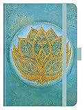 Premium Timer Big 'Lotus' 2021: Hochwertiger Buchkalender. Terminplaner mit Wochenkalendarium, Gummiband und Stifthalter. 12 x 17 cm