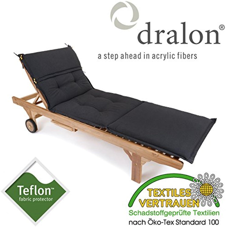 ROG garden-line PL85  dralon   Teflon Premium Auflage FüR Liege 198 x 64 cm ANTHRAZIT