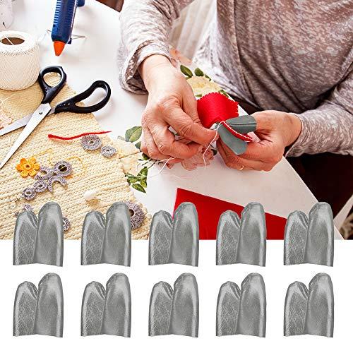 Portátil, Azul-marrón, Compacto, Protector de Dedos de Aguja, Punta de dedal, sastrería para el hogar a Medida de la Familia