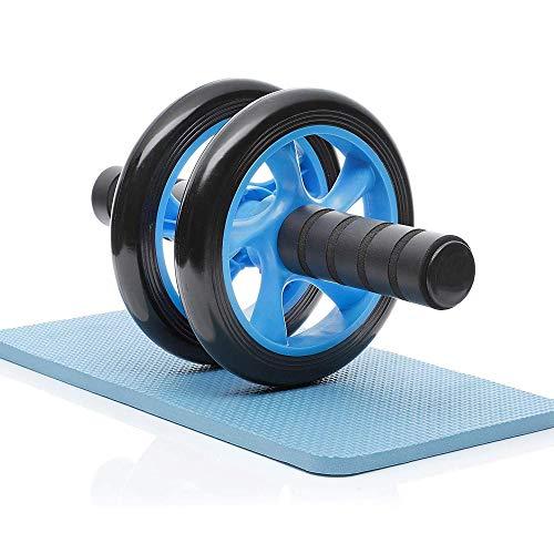 GROSSē AB Wheel Roller, Trainingsgerät Bauchpresse Rad Pro mit Kniepolster, tragbare Ausrüstung für Heimübungen, Muskelkraft, Fitness (2 Rollen Bauch-Rolle)
