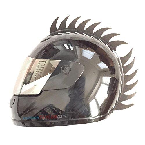 customTAYLOR33Zubehör für Motorradhelm, Design Warhawk/Mohawk zum Verzieren des Helms, Sägeblatt aus Gummi (Helm nicht im Lieferumfang enthalten) - 7