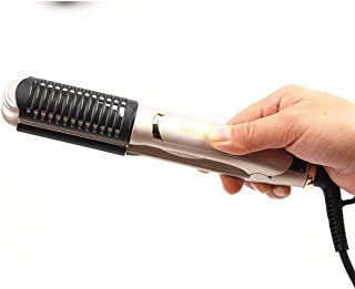 WZHZJ Travel Hair Curling Iron Brush,Dual Voltage Portable Ceramic Ionic Anti-Scald Hot Hair Curler Brush for Short