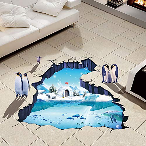 VIOYO 3D Polar World vloer muursticker verwijderbaar decals vinyl woonkamer decor