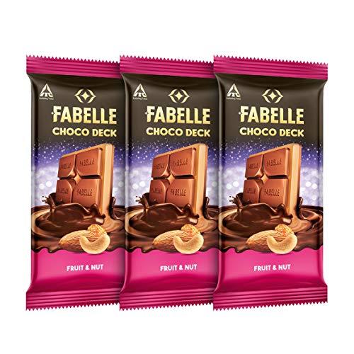 Fabelle Choco Deck Chocolate - Fruit & Nut, 3 x 128 g