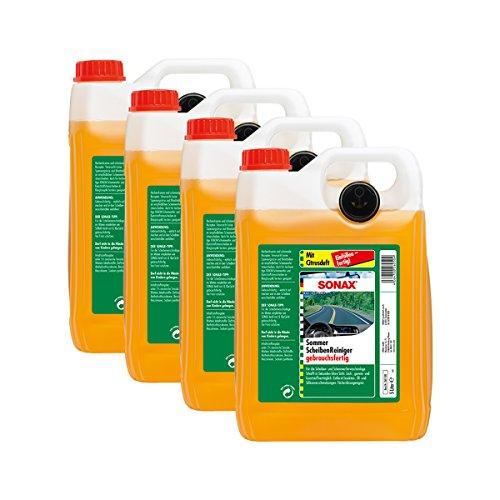 SONAX 4X 02605000 ScheibenReiniger gebrauchsfertig Citrus Konzentrat 5L