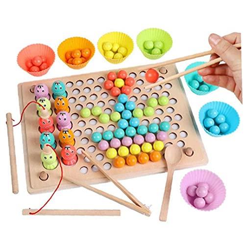 Ruluti Granos del Clip Niños Juguetes De Formación Juguetes De Madera Manos Cerebro Rompecabezas De La Tarjeta Matemáticas Juego del Bebé Los Primeros Juguetes Educativos para Niños